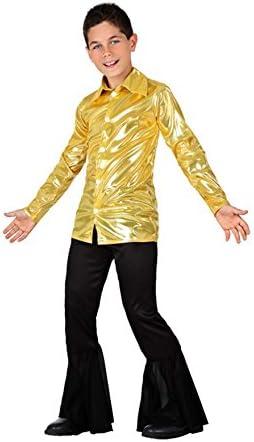Disfraz de Disco dorado brillante para niño: Amazon.es: Juguetes y ...