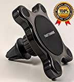 QI Fast Magnetic Wireless CAR Charger Mount for All QI Enabled Devices iPhone 8/8S/8plus/X Samsung Note 8/S8/ S8 Plus / S7 / S6 Phone Mount Charger Fast Charge Easy Dash Vent Mount