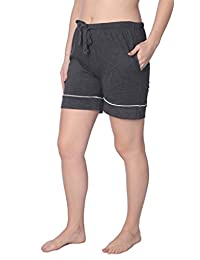 Beverly Rock Women's Short Jersey Knit Pajama Lounge Pant Available in Plus Size