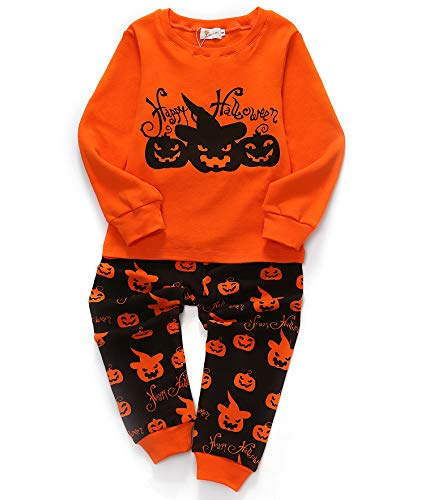 SORREL Girls Halloween Pajamas Cotton Long Pjs Toddler Clothes Children Sleepwear 3T (3-4 - Clothes 3years Baby