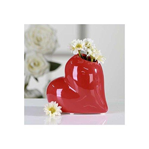 Vase Lovely rot Keramik Breite 13cm Höhe 11.5cm