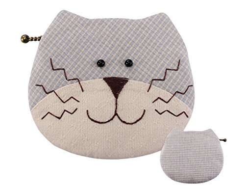 Cat Purse Beginner Sewing Project Craft Set for Kids (Blue ) by SuSE Inc.
