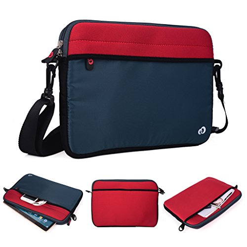 Kroo Tablet/Laptop Hülle Sleeve Case mit Schultergurt für Archos 80Titanium rosa rose rot