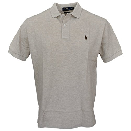 Polo Ralph Lauren Men Classic Fit Pony Logo Polo Shirt (L, Exp heather 7105)