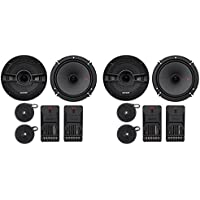 2-Pairs Kicker 44KSS6504 6.5 250 Watt Car Audio Component Speakers Pair KSS650