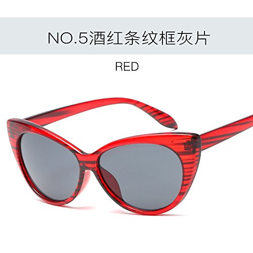 UV400 Gafas moda femenina Retro C5 mujer ZHANGYUSEN sexy Gato Ojo sol de Vintage gafas Tonos de C4 gafas de de 7d6waZ