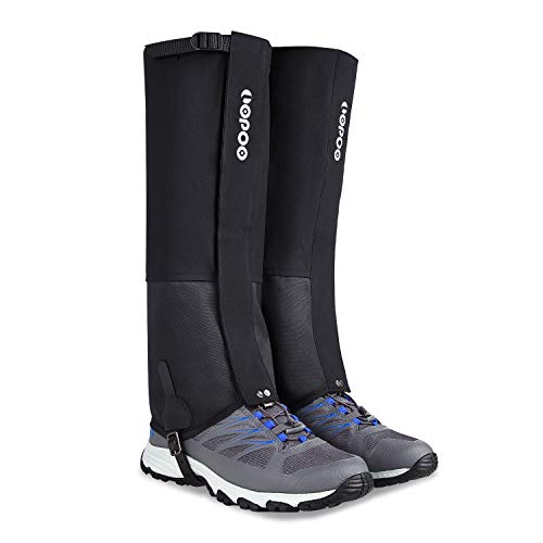 LOPOO Leg Gaiters Waterproof for Men and Women, Anti-Tear Snow Boot Gaiters 900D Nylon Fabric Breathable Shoe Gaiters for Outdoor Hiking Hunting Climbing