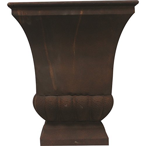 Stone Planter Old - Gardman 8225 Large Rustic Metal Urn Planter, 15.75