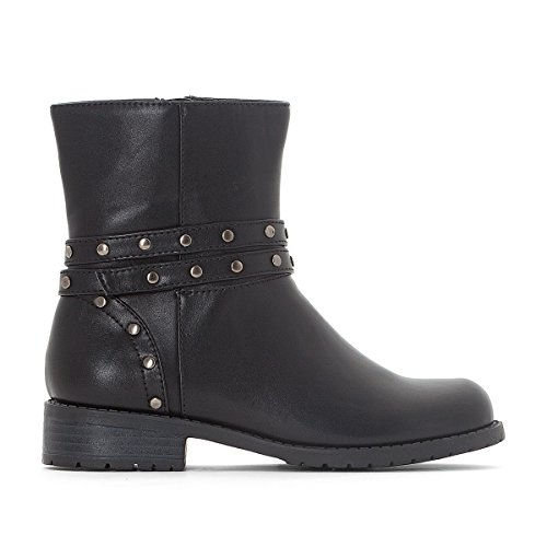 Studded Biker Boots (La Redoute Collections Big Girls Studded Biker Boots, 30-39 Black Size 39 (5.5 To 6))