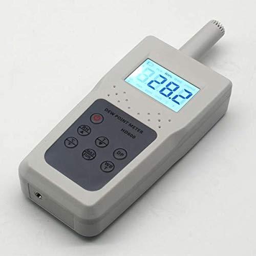 MeterTo Portable Dew Point Meter HD600 Humidity Temperature Tester Wet Bulb Temperature Meter 10-95RH% Temperature Wet Bulb Temperature -10°C~60 °C(32°F~140°F) Resolution 0.1RH%/°C by MeterTo