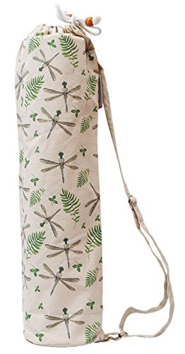 Watercolor Dragonfly Pattern Printed Canvas Yoga Mat Bags Carriers WAS_41 Review