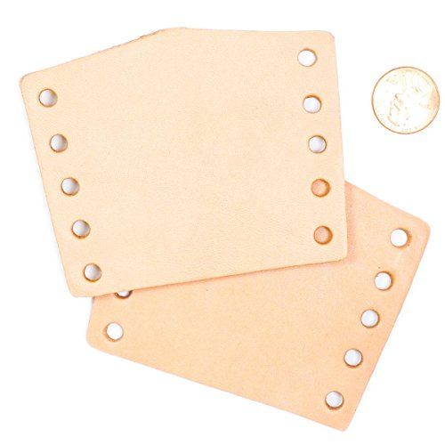 "Springfield Leather Company 25pk Vegetable Tan Cowhide Leather Neckerchief Slide 3-1/2""x2-3/4"