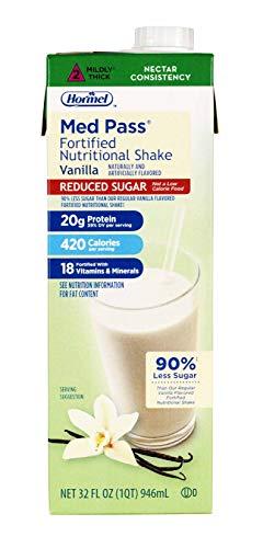 Med Pass Reduced Sugar Vanilla Flavor 32 oz. Carton Ready to Use, 22649 – Case of 12