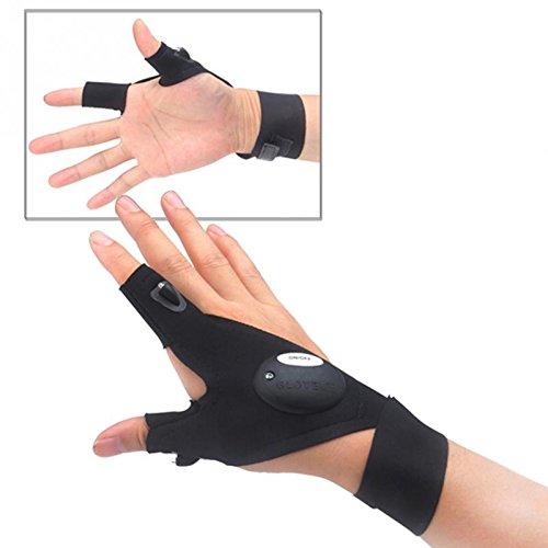 Vernver LED Flashlight-Gloves Fingerless Gloves Tool Gloves For Darkness Place (Ck Be Unisex Type)