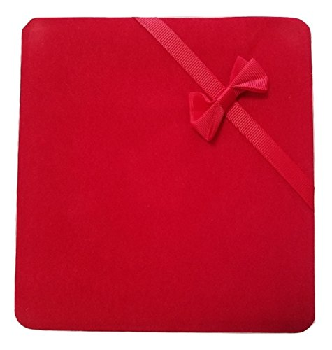 JM Future Velvet Set Gift Box for Jewelry, Necklace/Earring/Bracelet, X-Large, Red (Bow Jewelry Set)