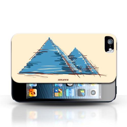 Etui / Coque pour Apple iPhone 5/5S / Pyramides conception / Collection de Monuments