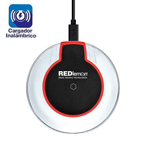 Redlemon Cargador Inalámbrico con Tecnología Qi, Compatible con iPhone 8 y 8 Plus, iPhone X y XS, Samsung Galaxy Note,...