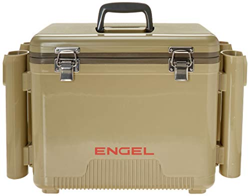Engel Cooler/Dry Box 19 Qt with Rod Holders - Tan