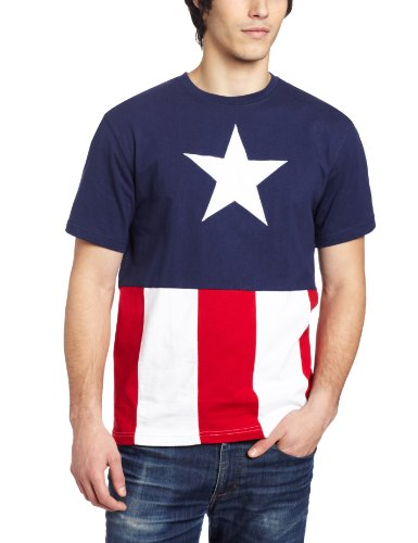 Captain America Men's T-Shirt Caps, Navy, - Online America Shop
