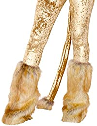 Lion Leg Warmers, Brown Fur Leg Warmers