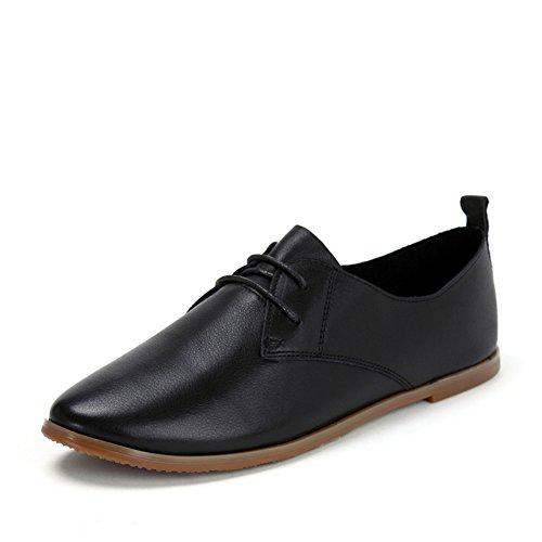 zapatos casuales de encaje Sra./zapatos planos A