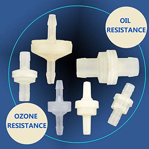 Blanc Clapet anti-retour en plastique v/éritable r/ésistant /à la pression Clapet anti-retour Clapet anti-retour Clapet anti-retour anti-ozone Clapet anti-retour r/ésistant /à lhuile