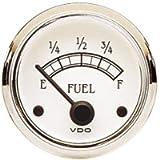 VDO 301733 Cockpit Royale Style Electrical Fuel Gauge 2 1/16' Diameter for Select Senders, 10-180 Ohms
