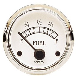 VDO 301733 Cockpit Royale Style Electrical Fuel Gauge 2 1/16' Diameter For Select Senders, 10-180 Ohms 301-733D