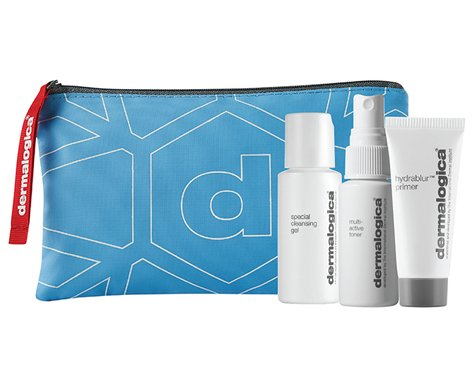 Dermalogica Travel Trio Kit Special Cleansing Gel 1.0 oz Multi Active Toner 1.0 oz & Hydrablur Primer 0.24 (Cleansing Trio Kit)