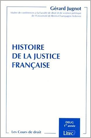 Livres Histoire de la justice française. Deug 1re année (université de Reims) (ancienne édition) epub pdf