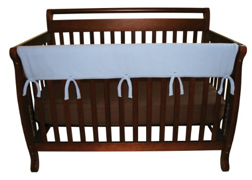 Crib Top (Trend Lab Fleece CribWrap Rail Cover for Long Rail, Blue, Wide for Crib Rails Measuring up to 18