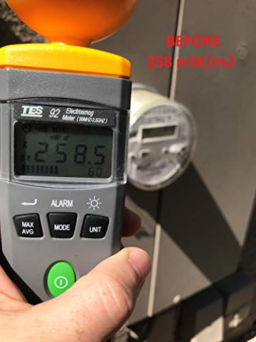 [Upgraded] Smart Meter Cover RF Radiation Shield   Independently Tested and Shown to Reduce 95-98% RF Radiation from Smart Meters   USA Company