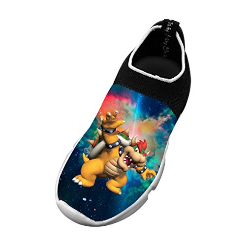 Boss_Bowser_Koopa_Design Customized Printing Children's Slip-on Flyknit Outdoor Sport Shoes