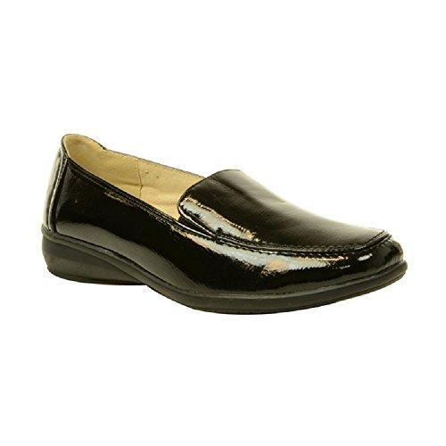 Décontractées Verni Sortie Keller Dr Talon Femmes Confortable Noir Compensées Enfiler À Chaussures 1F8Snqf