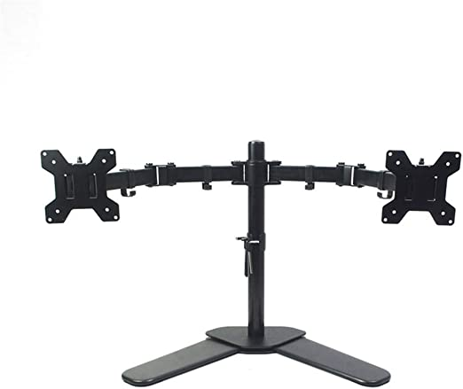 GLJJQMY Soporte para televisor Soporte de TV de tres brazos completamente ajustable de 13 a 27 pulgadas Soporte de pantalla LCDLED para soporte de montaje en escritorio 180 brazo extraíble giratorio S: