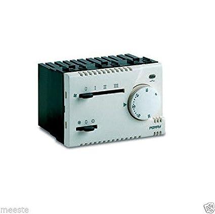 Termostato electrónico integrado Perry 1TI tef365 MC módulo H 45 mm termostato electrónico para Fan Coil ...