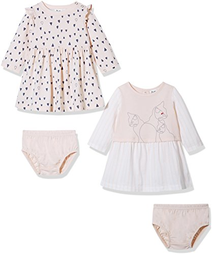 Preemie 2 Piece Outfit - Silly Apples Baby Girl 2-Piece Long-Sleeve Dress Set