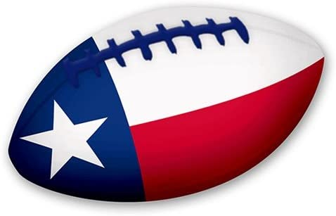 Soft Neoprene Texas Flag Football for Kids 20cm Long