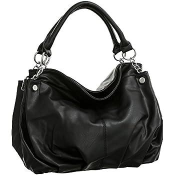 Amazon.com  Vitalio Vera Sitges Black Large Hobo Handbag  Shoes 76471c833552c