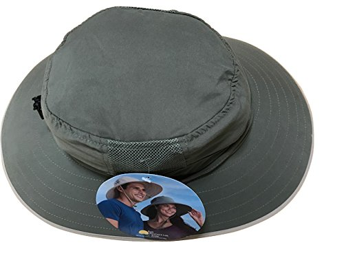 Sun Protection Zone Unisex Booney Hat, Lightweight, Adjustable, 100 Spf (Olive) (Adult Hats)