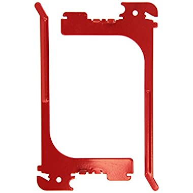 Wall Control 10-ER-106 R Pegboard 6  Reach Extended Slotted Hook Pair Slotted Metal Hooks for Wall Control Pegboard Only, Red