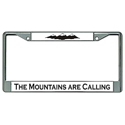 The Mountains are Calling Chrome License Plate Frame: Automotive
