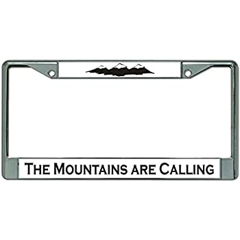 6-Inches by 12-Inches Decals Home Decor /& More The Mountains are Calling and I Must Go License Plate Tag Vanity Novelty Metal Car Truck RV Trailer Wall Shop Man Cave UV Printed Metal VLP085