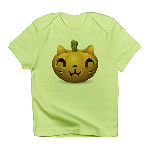 Truly Teague Infant T-Shirt Kitty Cat Halloween Jack-O-Lantern - Kiwi, 12 To 18 Months]()