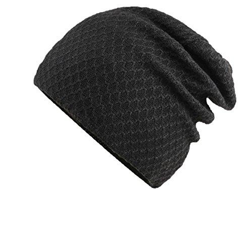 GEXING Sombrero Para Mujer De Los Hombres Sombrero De Invierno Caliente De Lana Sombrero De Lana De Invierno Sombrero De Algodón Para Jóvenes Sombrero De Cabeza Sombrero De Invierno Black