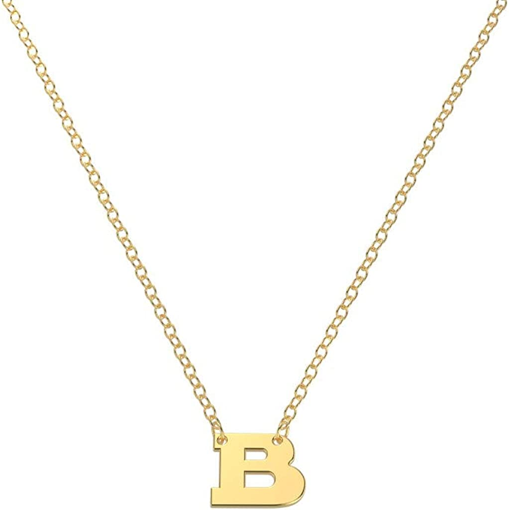 Sterling Silver Square Initial Charm Letter v Lower Case Hand Stamped Pendant with 16 Sterling Silver Bead Chain