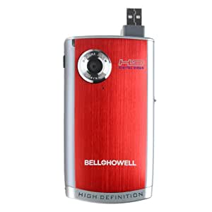 Bell and Howell DV600HD-R High Definition Digital Video Camcorder with Flip USB (Red)