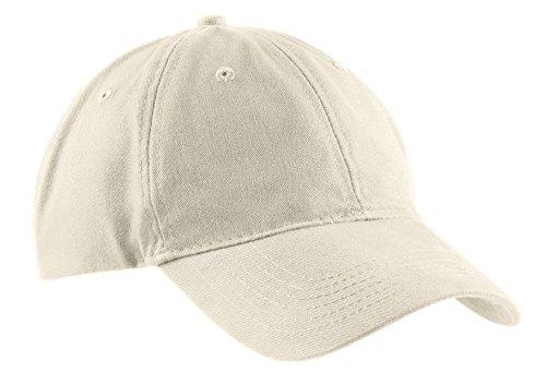Twill Low Profile Cap - Port & Company Men's Brushed Twill Low Profile Cap OSFA Stone