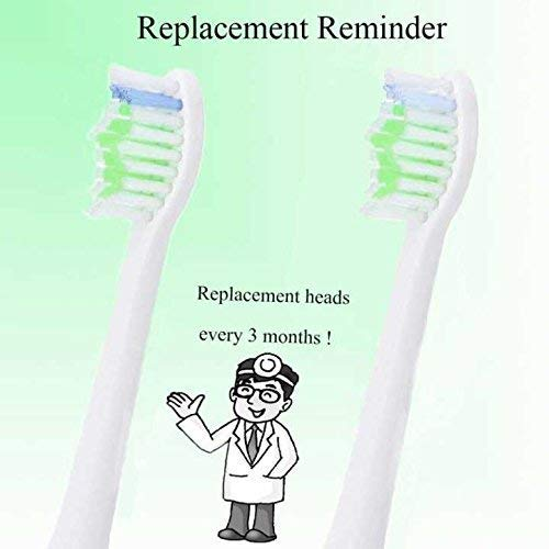 Sonicare Replacement Brush Heads For all Phillips Sonicare Electric Sonic Snap On Toothbrush Handles, DiamondClean,Gum Healthy HealthyWhite, FlexCare,EasyClean, Plaque Control, 4Pack by GUYWANG (Image #3)