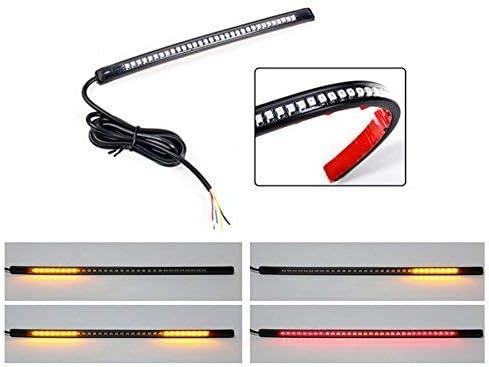 ZYTC Universal Motorcycle Harley Davidson Light Strip 32LED 8 Tail Brake Stop Turn Signal Flexible Led Light